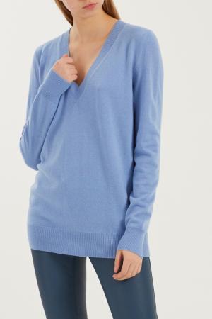 Голубой пуловер Gucci