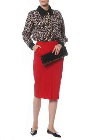 Костюм женский AVEMOD. Цвет: леопардовый,красный