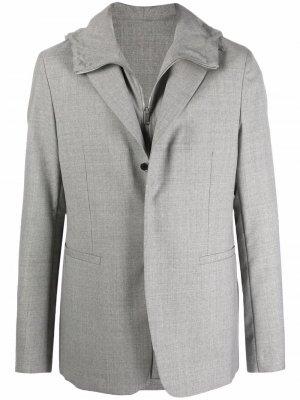 Однобортный пиджак со съемным жилетом Givenchy. Цвет: серый