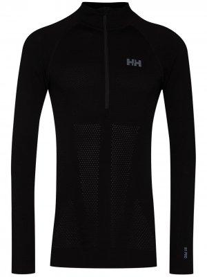 Бесшовный свитер H1 Pro Lifa с воротником на молнии Helly Hansen. Цвет: черный