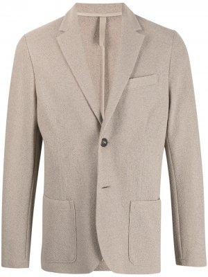 Однобортный пиджак с заостренными лацканами Harris Wharf London. Цвет: нейтральные цвета