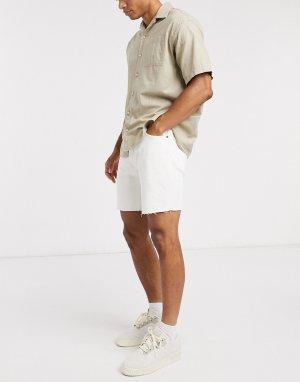 Джинсовые шорты прямого кроя с необработанной нижней кромкой Levis 501 93-Белый Levi's
