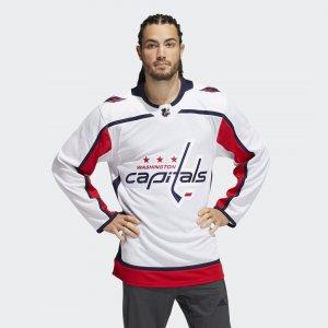 Оригинальный хоккейный свитер Capitals Away Performance adidas. Цвет: белый
