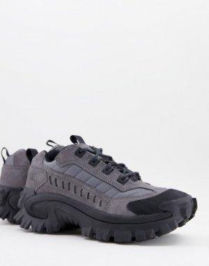Серые замшевые кроссовки на массивной подошве Caterpillar-Серый Cat Footwear