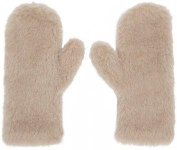 Beige Ombrato Teddy Mittens Max Mara. Цвет: 002 sand