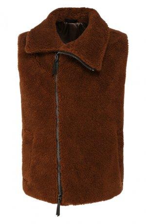 Шерстяной жилет Giorgio Armani. Цвет: коричневый