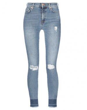 Джинсовые брюки 7 FOR ALL MANKIND. Цвет: синий