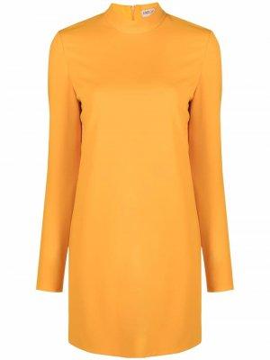 Платье-трапеция с длинными рукавами Emilio Pucci. Цвет: оранжевый