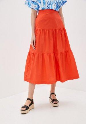 Юбка Gap. Цвет: оранжевый