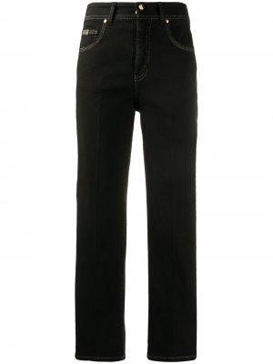 Джинсы прямого кроя с завышенной талией Versace Jeans Couture. Цвет: черный