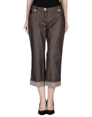 Джинсовые брюки-капри HUSKY. Цвет: какао