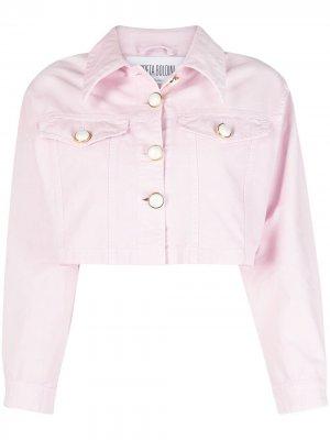 Укороченная джинсовая куртка GRETA BOLDINI. Цвет: розовый
