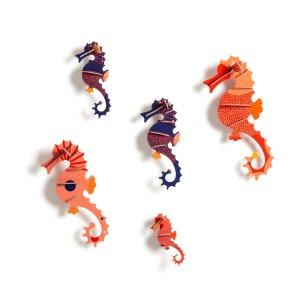 Комплект из 5 морских коньков LaRedoute. Цвет: разноцветный