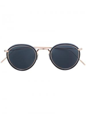 Круглые солнцезащитные очки Eyevan7285. Цвет: черный