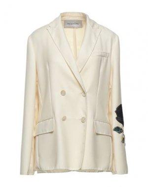 Пиджак VALENTINO. Цвет: слоновая кость