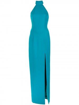 Платье макси с вырезом халтер Jay Godfrey. Цвет: синий