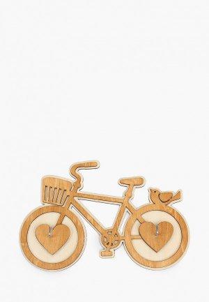 Ключница настенная Канышевы Велосипед. Цвет: бежевый