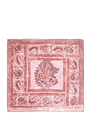 Шелковый платок-паше с отделкой ручной работы CANALI. Цвет: розовый