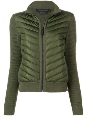 Куртка-бомбер свободного кроя Canada Goose. Цвет: зеленый