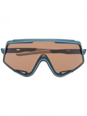 Солнцезащитные очки Glendale с затемненными линзами 100% Eyewear. Цвет: синий
