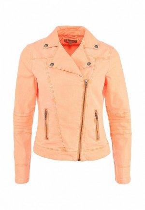 Куртка джинсовая Comma CO004EWFL571. Цвет: оранжевый