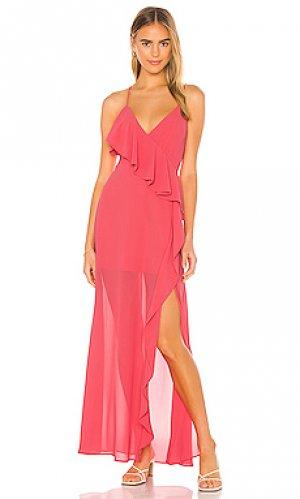 Макси платье darcy Lovers + Friends. Цвет: розовый