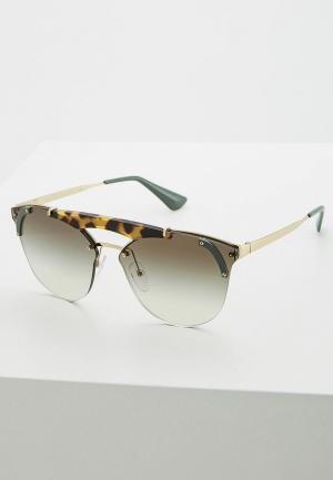 Очки солнцезащитные Prada PR 53US SZ60A7. Цвет: золотой