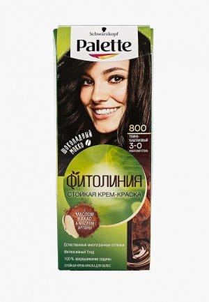 Краска для волос Palette ФИТОЛИНИЯ, 800, Темно-каштановый, 110 мл. Цвет: коричневый