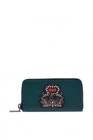 Кожаный кошелек M Panettone Christian Louboutin. Цвет: зеленый