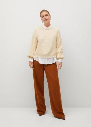 Струящиеся брюки-клеш - Tejas Mango. Цвет: золотисто-оранжевый