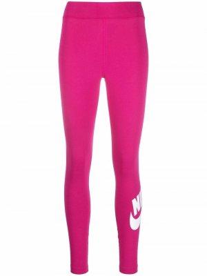 Легинсы с принтом Swoosh Nike. Цвет: розовый