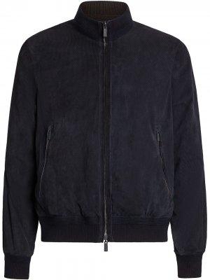 Короткая куртка Ermenegildo Zegna. Цвет: синий