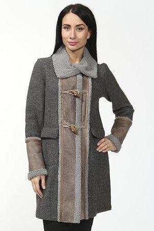 Пальто Benedetta Novi. Цвет: серый