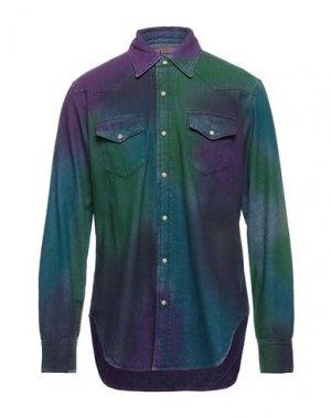 Джинсовая рубашка ACNE STUDIOS BLÅ KONST. Цвет: зеленый