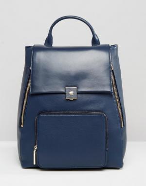 Кожаный рюкзак Modalu. Цвет: темно-синий