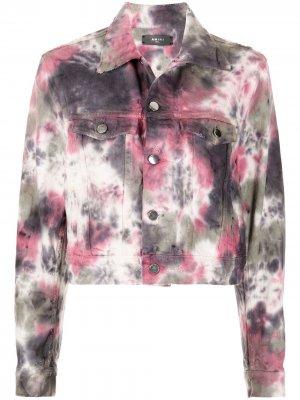 Джинсовая куртка с принтом тай-дай AMIRI. Цвет: разноцветный
