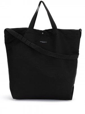 Сумка-тоут с логотипом Engineered Garments. Цвет: черный