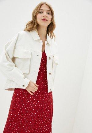 Куртка джинсовая Incity. Цвет: белый