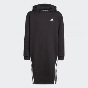 Платье-худи Primegreen Future Icons 3-Stripes Performance adidas. Цвет: черный
