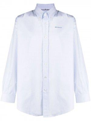 Рубашка в клетку Acne Studios. Цвет: белый