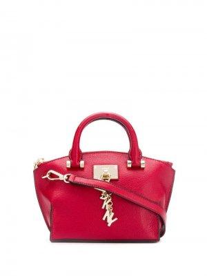 Маленькая сумка-тоут Elissa Donna Karan. Цвет: красный