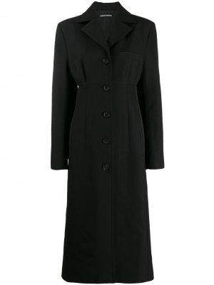 Однобортное пальто Kwaidan Editions. Цвет: черный