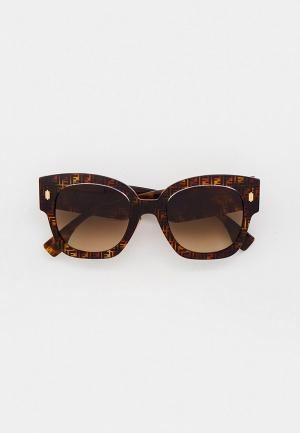 Очки солнцезащитные Fendi FF 0458/G/S 2VM. Цвет: коричневый