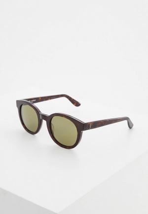 Очки солнцезащитные Saint Laurent SA042DWZHN37. Цвет: коричневый