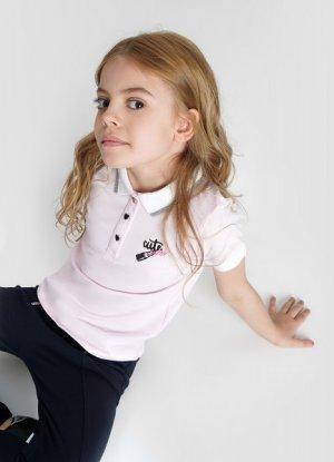 Поло для девочек O`Stin. Цвет: бледно-розовый