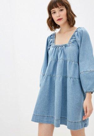 Платье джинсовое Free People. Цвет: голубой