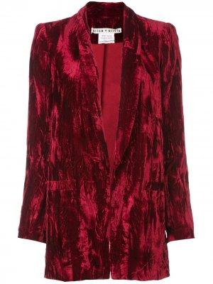 Пальто-блейзер Kylie Alice+Olivia. Цвет: красный
