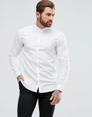Белая оксфордская рубашка классического кроя с воротом на пуговице Easy 1 BOSS. Цвет: белый