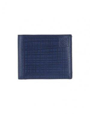 Бумажник LOEWE. Цвет: темно-синий
