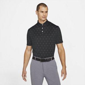 Мужская рубашка-поло с принтом для гольфа Dri-FIT Player - Черный Nike